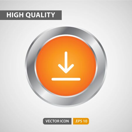 download icon for your web site design, logo, app, UI. Vector graphics illustration and editable stroke. Logo