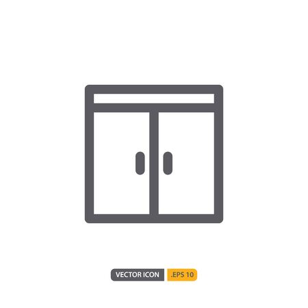 door icon isolated on white background. for your web site design, logo, app, UI. Vector graphics illustration and editable stroke. EPS 10.