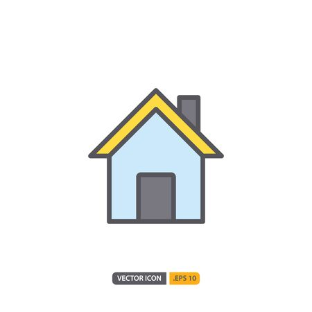 house icon in isolated on white background. for your web site design, logo, app, UI. Vector graphics illustration and editable stroke.