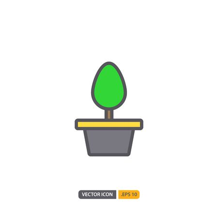tree station icon in isolated on white background. for your web site design, logo, app, UI. Vector graphics illustration and editable stroke.