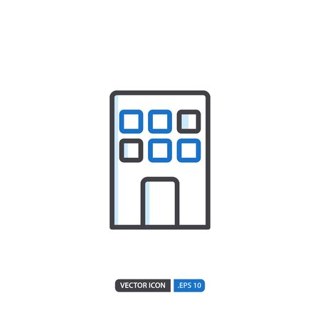 building icon in isolated on white background. for your web site design, logo, app, UI. Vector graphics illustration and editable stroke.