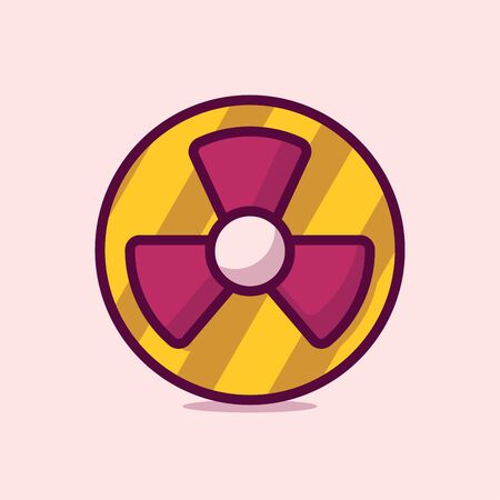 Radiation Vector Icon Illustration. Flat Cartoon Style Suitable for Web Landing Page, Banner, Sticker, Background.