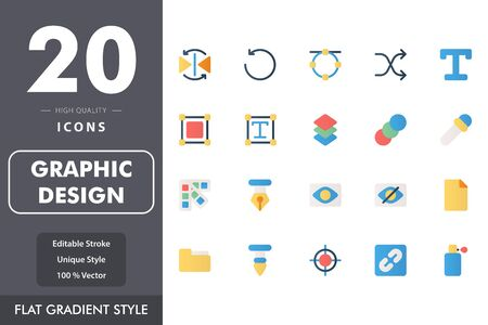 graphic design icon pack isolated on white background. for your web site design, logo, app, UI. Vector graphics illustration and editable stroke. EPS 10.