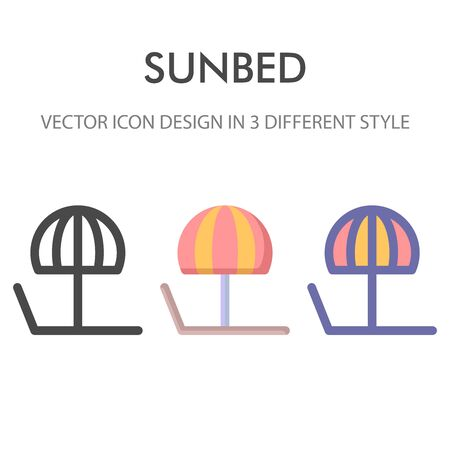 sunbed icon pack isolated on white background. for your web site design, logo, app, UI. Vector graphics illustration and editable stroke. EPS 10. Illustration