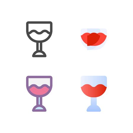whine icon pack isolated on white background. for your web site design, logo, app, UI. Vector graphics illustration and editable stroke. EPS 10.