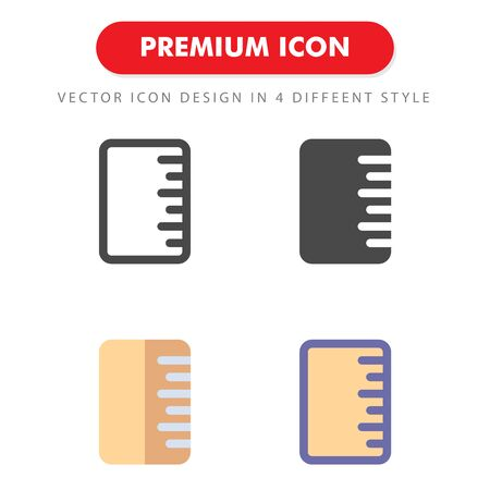 ruler icon pack isolated on white background. for your web site design, logo, app, UI. Vector graphics illustration and editable stroke.