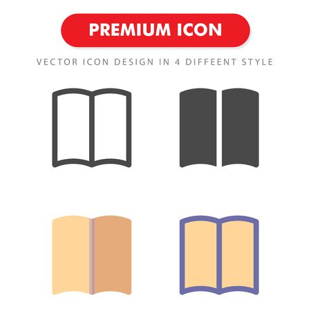 book icon pack isolated on white background. for your web site design, logo, app, UI. Vector graphics illustration and editable stroke.