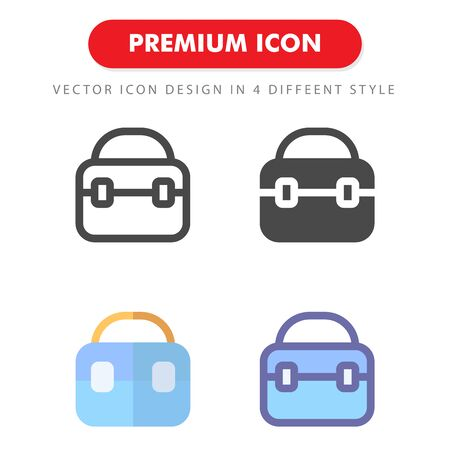 bag icon pack isolated on white background. for your web site design, logo, app, UI. Vector graphics illustration and editable stroke.