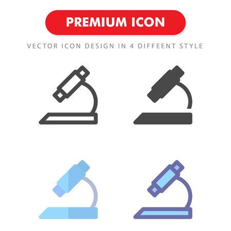 microscope icon pack isolated on white background. for your web site design, logo, app, UI. Vector graphics illustration and editable stroke.