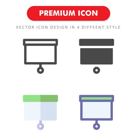 screen projection icon pack isolated on white background. for your web site design, logo, app, UI. Vector graphics illustration and editable stroke.