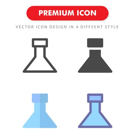 flask icon pack isolated on white background. for your web site design, logo, app, UI. Vector graphics illustration and editable stroke.