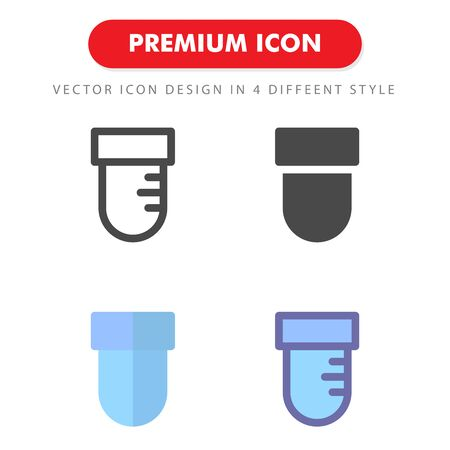 test tube icon pack isolated on white background. for your web site design, logo, app, UI. Vector graphics illustration and editable stroke.