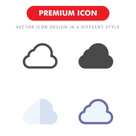 cloud icon pack isolated on white background. for your web site design, logo, app, UI. Vector graphics illustration and editable stroke.