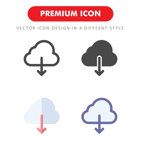 download icon pack isolated on white background. for your web site design, logo, app, UI. Vector graphics illustration and editable stroke.