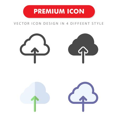upload icon pack isolated on white background. for your web site design, logo, app, UI. Vector graphics illustration and editable stroke.