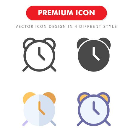 clock icon pack isolated on white background. for your web site design, logo, app, UI. Vector graphics illustration and editable stroke.