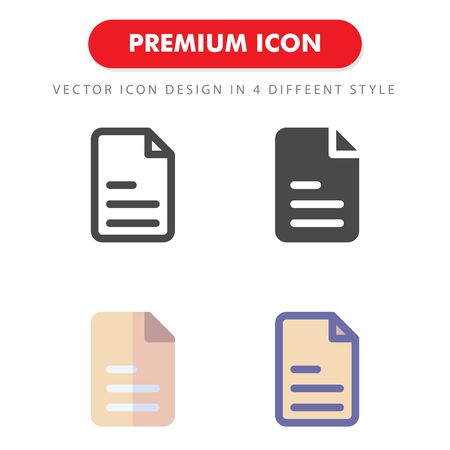 file icon pack isolated on white background. for your web site design, logo, app, UI. Vector graphics illustration and editable stroke. 向量圖像