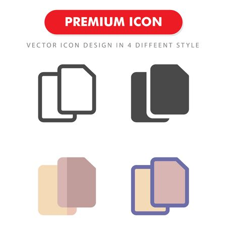 document icon pack isolated on white background. for your web site design, logo, app, UI. Vector graphics illustration and editable stroke. 向量圖像