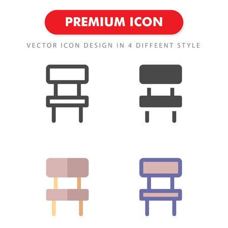 chair icon pack isolated on white background. for your web site design, logo, app, UI. Vector graphics illustration and editable stroke. 向量圖像