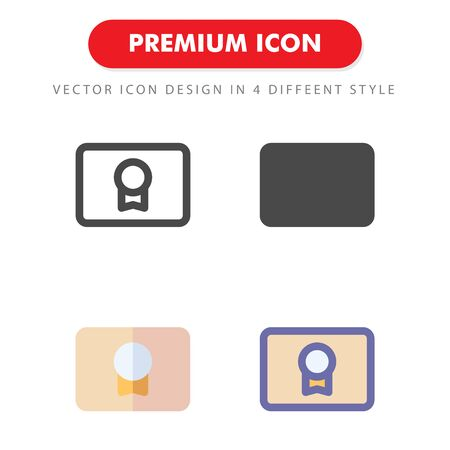 certificate icon pack isolated on white background. for your web site design, logo, app, UI. Vector graphics illustration and editable stroke. 向量圖像