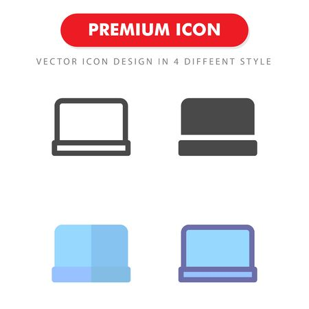 laptop icon pack isolated on white background. for your web site design, logo, app, UI. Vector graphics illustration and editable stroke.