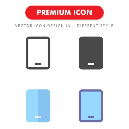 smartphone icon pack isolated on white background. for your web site design, logo, app, UI. Vector graphics illustration and editable stroke. 向量圖像