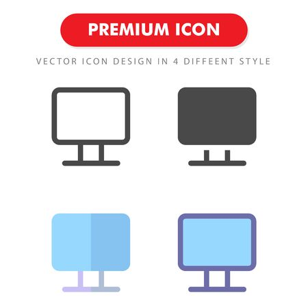 monitor icon pack isolated on white background. for your web site design, logo, app, UI. Vector graphics illustration and editable stroke. 向量圖像
