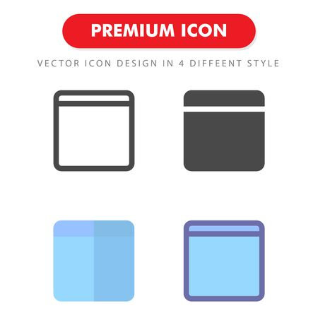 browser icon pack isolated on white background. for your web site design, logo, app, UI. Vector graphics illustration and editable stroke. 向量圖像