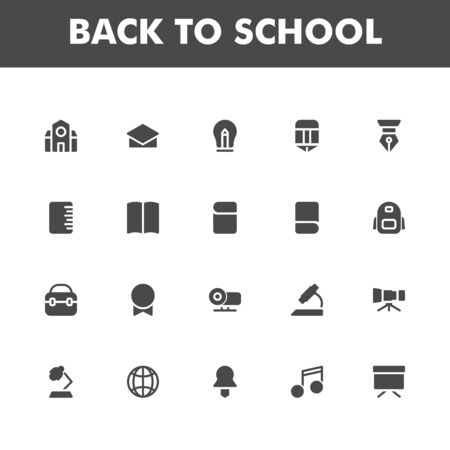 Education icon pack isolated on white background. for your web site design, logo, app, UI. Vector graphics illustration and editable stroke. 版權商用圖片 - 147908977