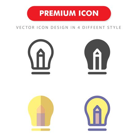 lamp icon pack isolated on white background. for your web site design, logo, app, UI. Vector graphics illustration and editable stroke. 向量圖像