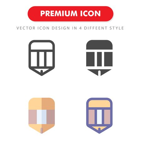 pencil icon pack isolated on white background. for your web site design, logo, app, UI. Vector graphics illustration and editable stroke. 向量圖像
