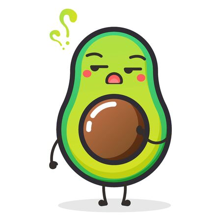 Cute Avocado fruit character for illustration or mascot.