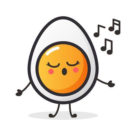 Cute Egg character for illustration or mascot. Vettoriali
