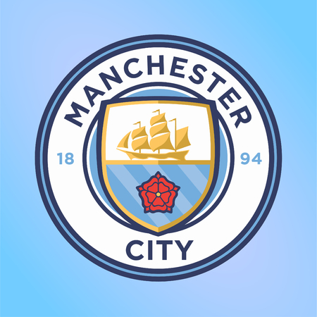 Manchester City Football Club logo vector sjabloon professionele voetbalclub in Manchester, Engeland Logo
