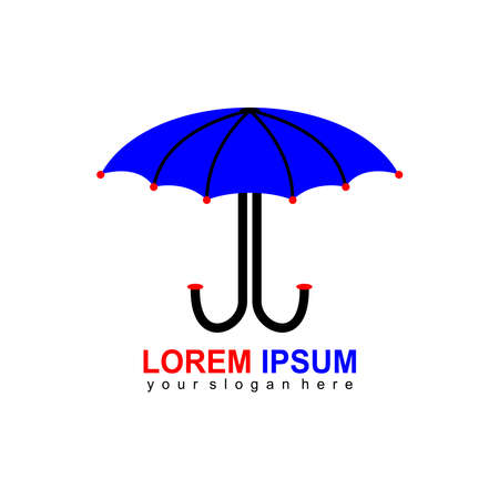 Umbrella logo design vector illustration