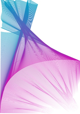 organza: Colorful vector graphic veil made with blend tool.