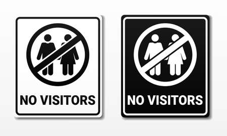 No visitors sign. Illustration vector
