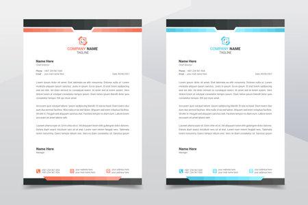 Letterhead design template. Creative and clean modern business A4 letterhead template design in minimalist style. Illustration vector
