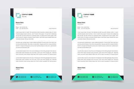 Letterhead design template. Creative and clean modern business A4 letterhead template design in minimalist style. Illustration vector Ilustracje wektorowe