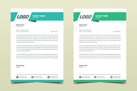 Letterhead design template. Creative, simple and clean modern business letterhead template for your project design. Illustration vector Vettoriali
