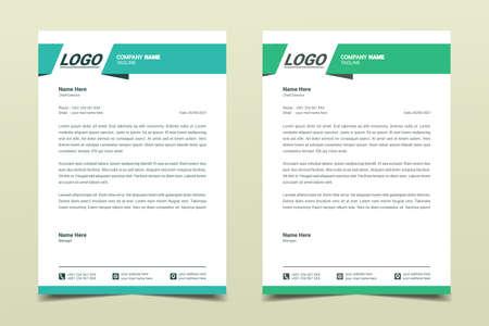 Letterhead design template. Creative, simple and clean modern business letterhead template for your project design. Illustration vector Vektoros illusztráció