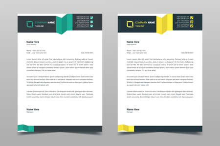 Letterhead design template. Creative elegant modern business A4 letterhead template for your project design. Illustration vector