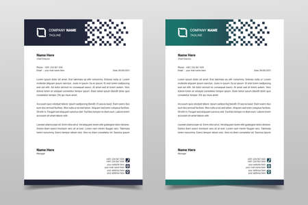 Letterhead design template. Creative, simple and clean modern business letterhead template for your project design. Illustration vector