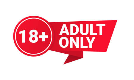 18 plus sign. Warning only for 18 years and over. Adult only. Illustration vector Vektoros illusztráció