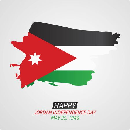 Happy Jordan Independence Day Design Vector Illustration
