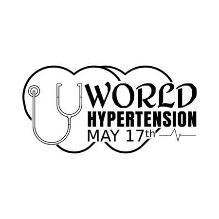 World Hypertension Day Vector Illustration