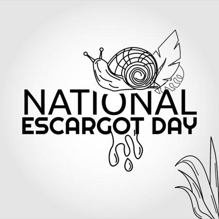 National Escargot Day Vector Illustration Illusztráció