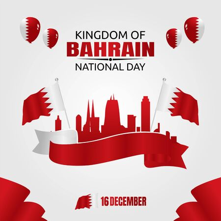 Happy Bahrain National Day Vector Illustration