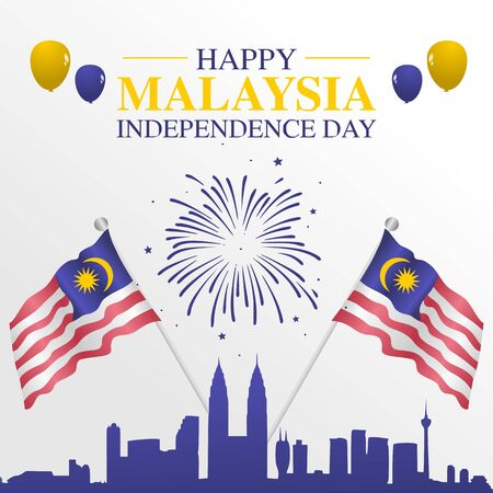 Happy Malaysia Independence Day Vector Illustration
