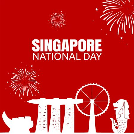 Singapore National Day Vector Illustration